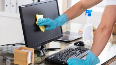 bilgisayar ekranı temizleme